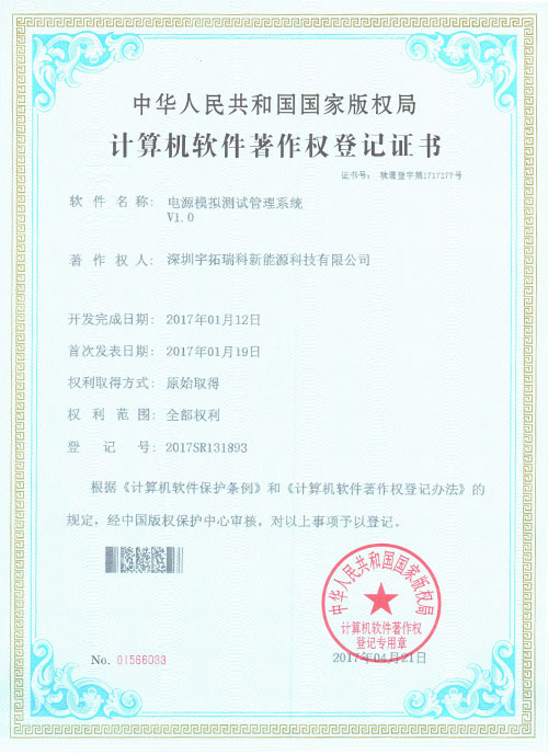 certificate of software